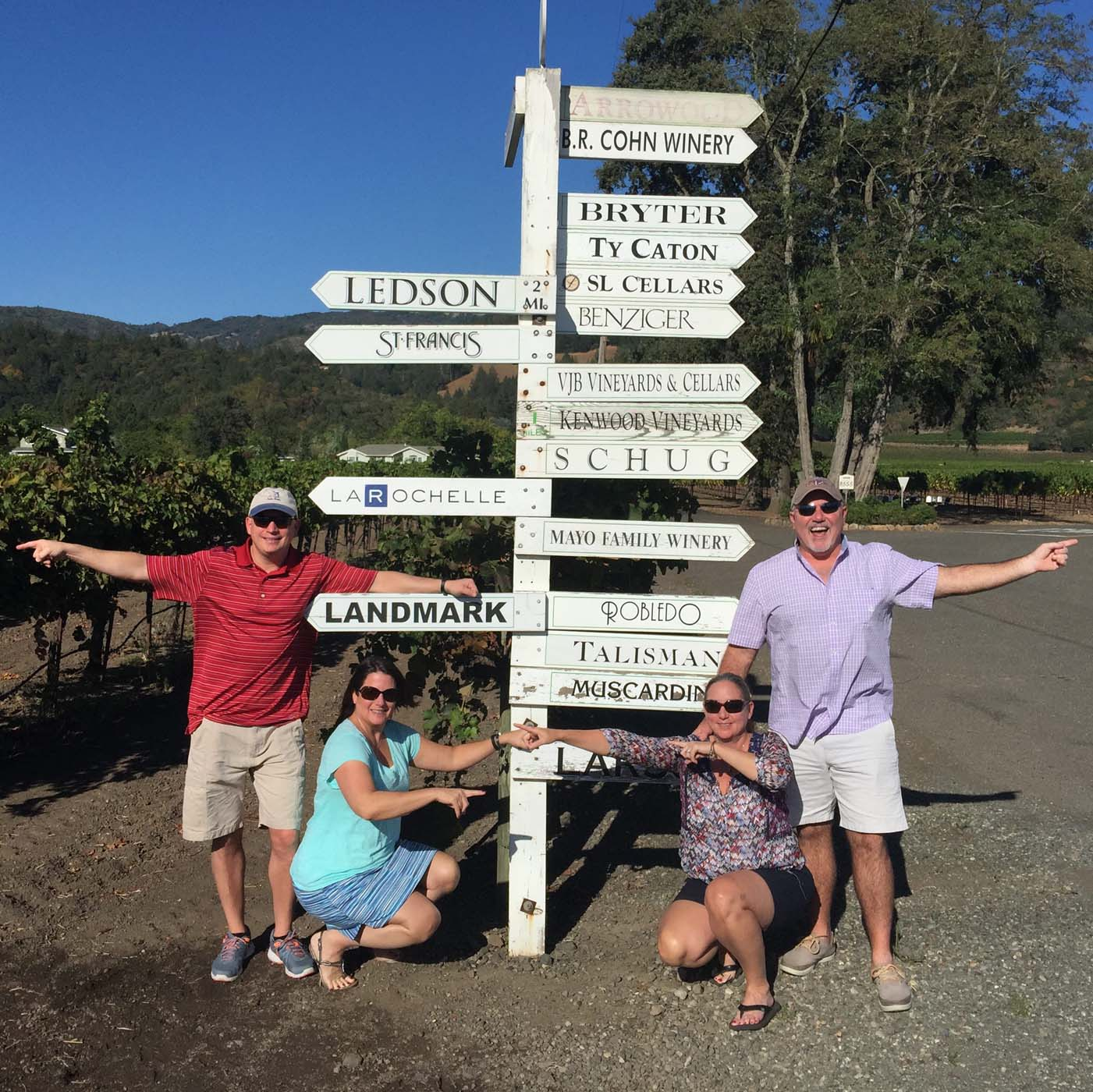 Guests at Sonoma Directional SIgn