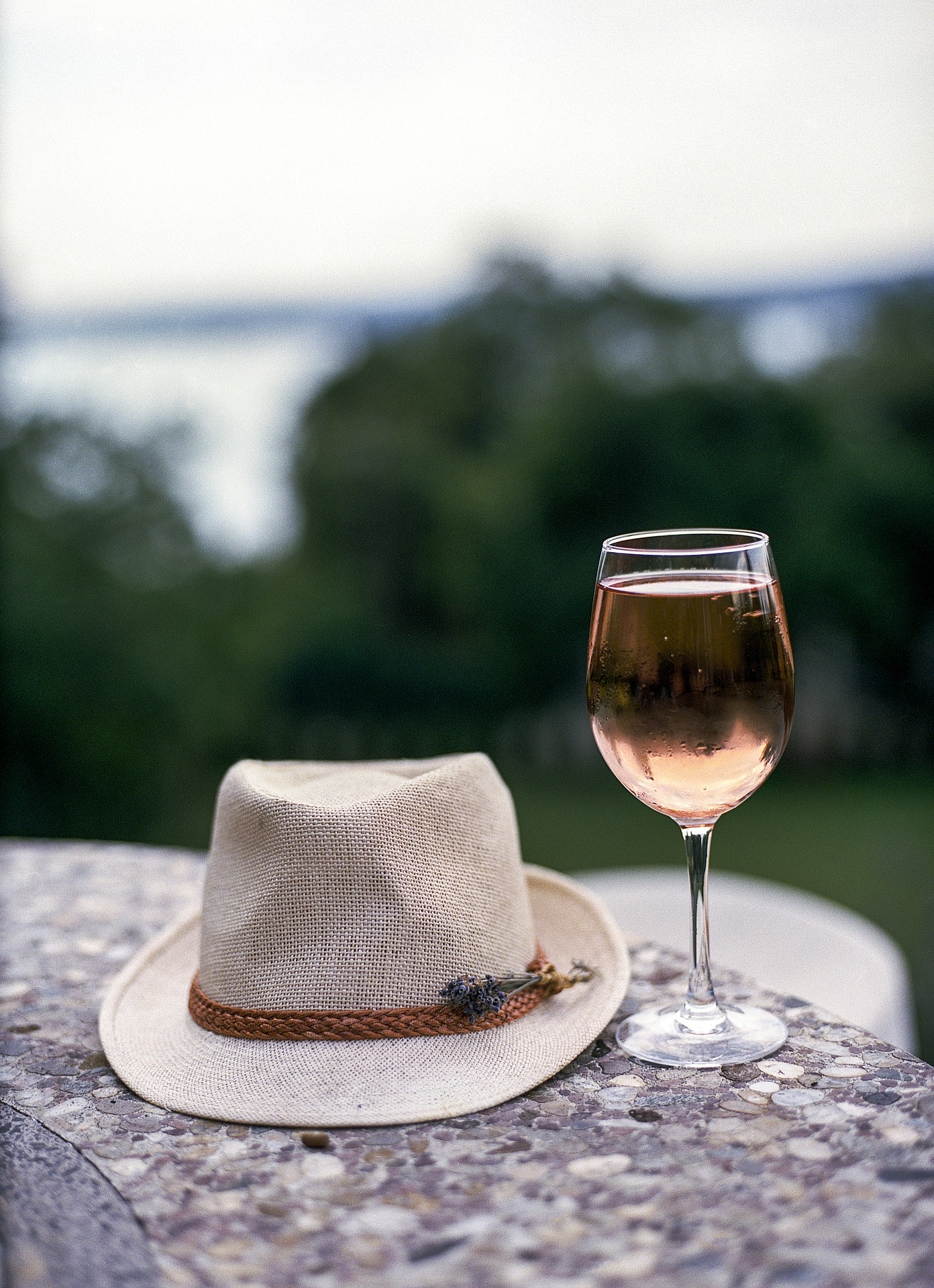 Hat and Wine Glass